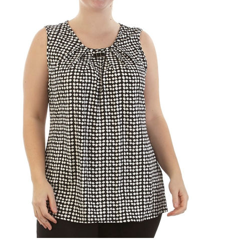 Black White Metal Keyhole top - Sarai Afrique