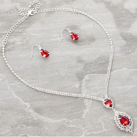 Red Tear Drop Set - Sarai Afrique