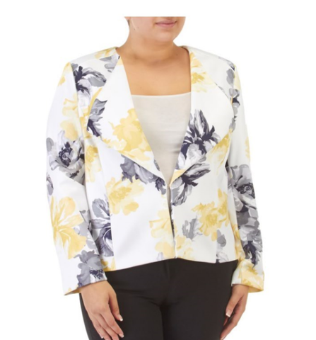 Yellow Floral Jacket - Sarai Afrique