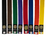 karate rank belts, all colors