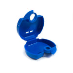 mouthguard case, open, blue
