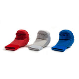 red, white and blue karate sparring gloves