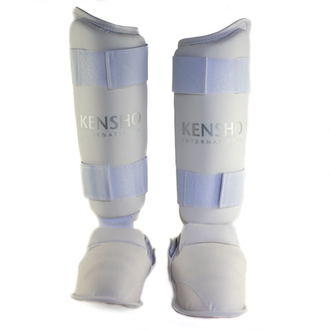 Kensho karate shin guard with foot protector