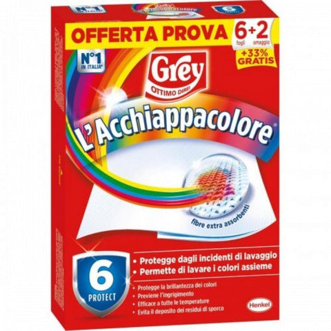 Additivo Grey Acchiappacolore 8 fogli-8 conf.