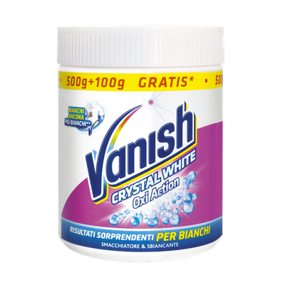 Additivo in polvere Vanish Oxi Action Bianchi 500gr-12 pezzi