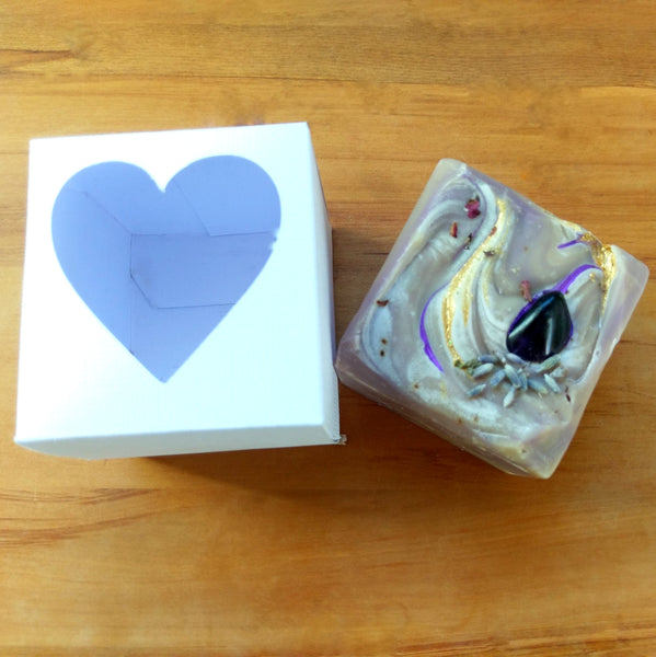 Amethyst gemstone soap palm oil free vegan