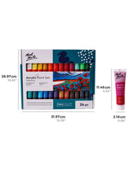 Acrylic Paint Set (24 color x 36ml) 塑膠彩套裝 (24色 x 36ml)