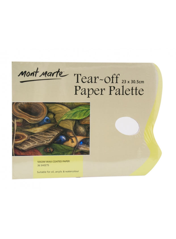 Tear Off Palette Pad 36 Sheet 圖繪蠟紙 調色板36頁