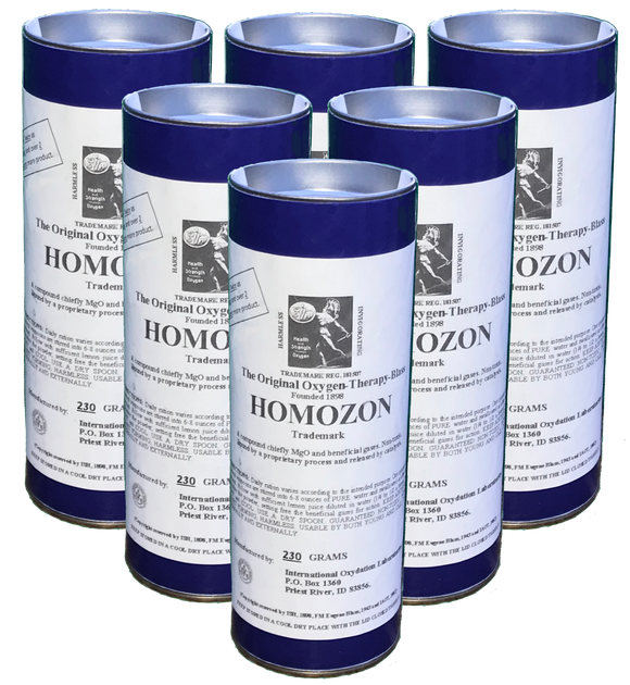 6 Homozon Canisters @ $48.00 ea. - 230 Grams each - Double Strength
