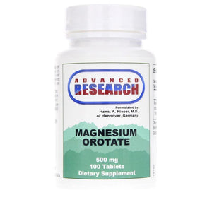 Magnesium Orotate - 100 Tablets - Dr. Hans Nieper - Advanced Research