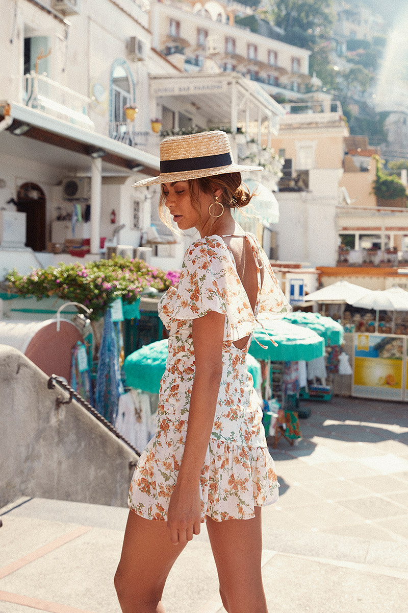 Marigold Dress by Runaway - White Floral