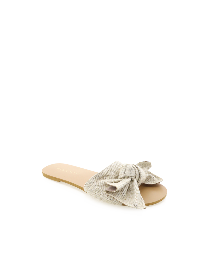 Billini Alpha Slide - Cream Woven