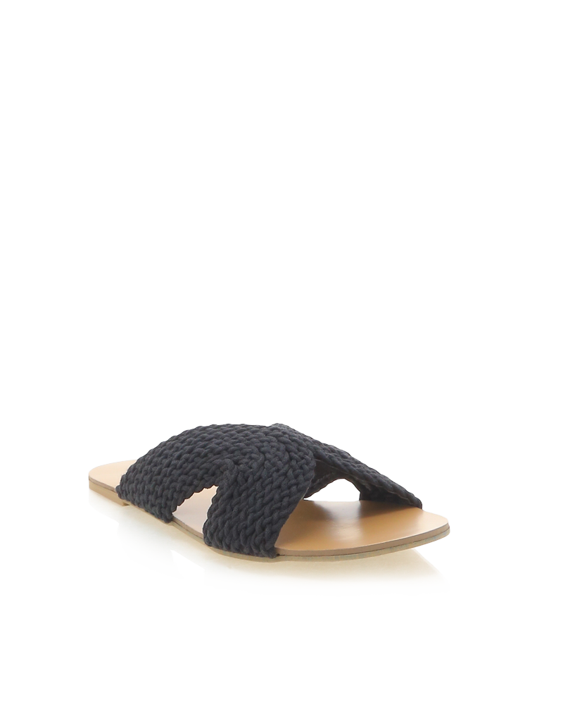 Billini Cayo Slide - Black Nubuck