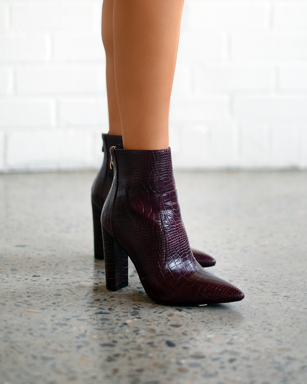 Billini Kourt Croc Boot - Burgundy