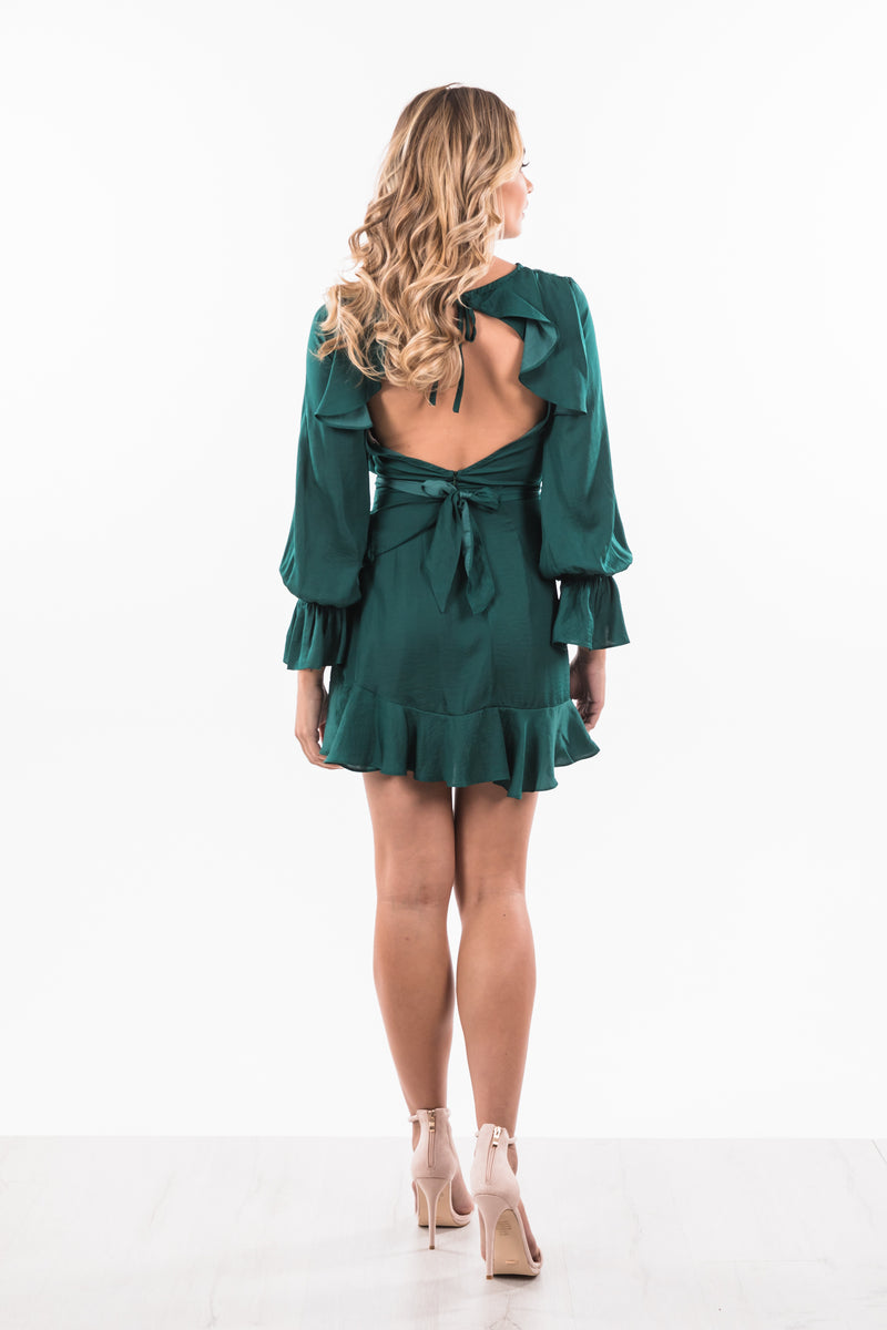 Kira Dress - Forest Green