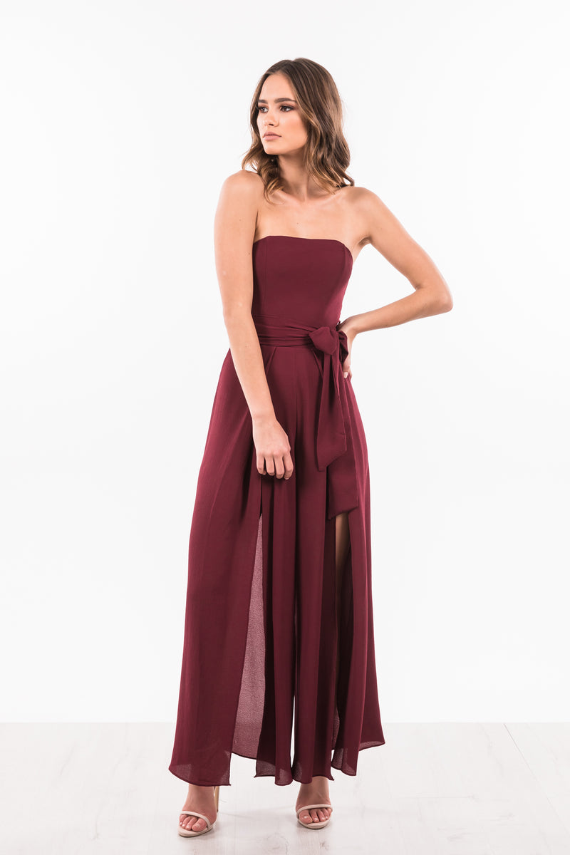 Mya Jumpsuit - Burgundy
