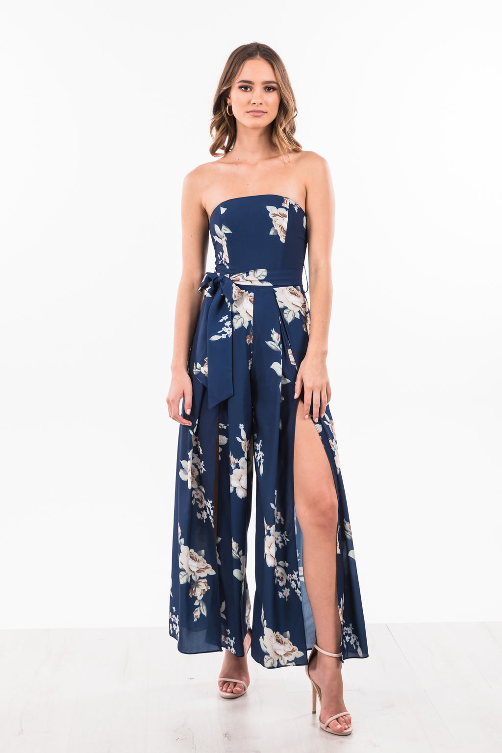 Ciara Jumpsuit - Navy Floral