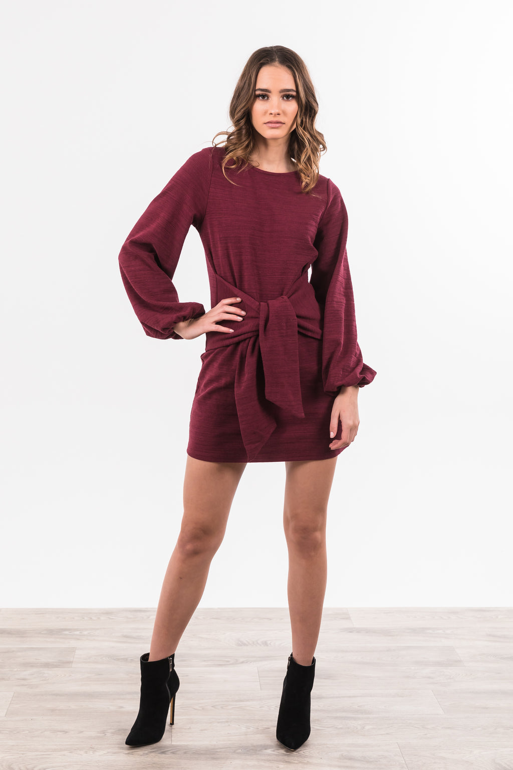 Simone Dress - Wine