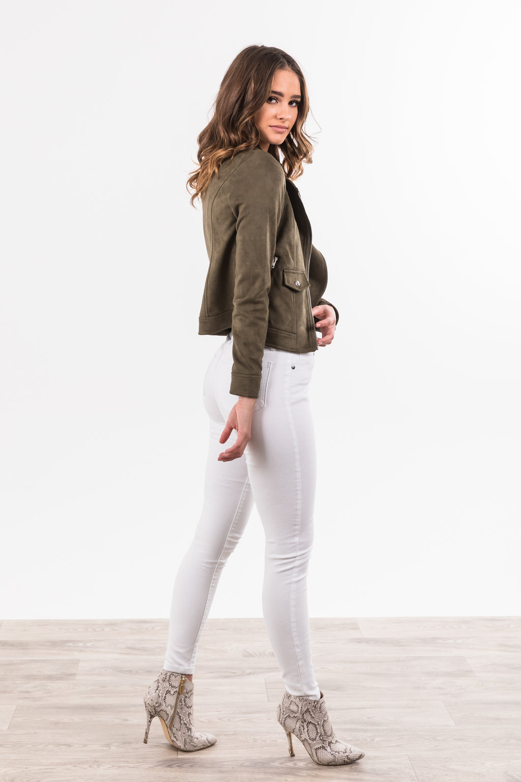 Blair Biker Jacket - Khaki