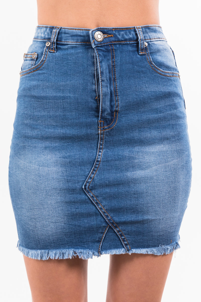 Dina Skirt - Denim
