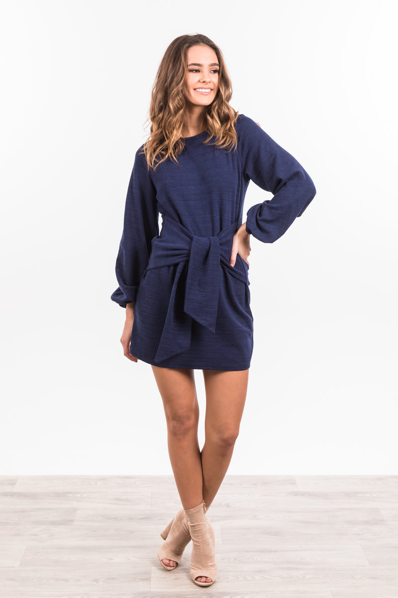Simone Dress - Navy
