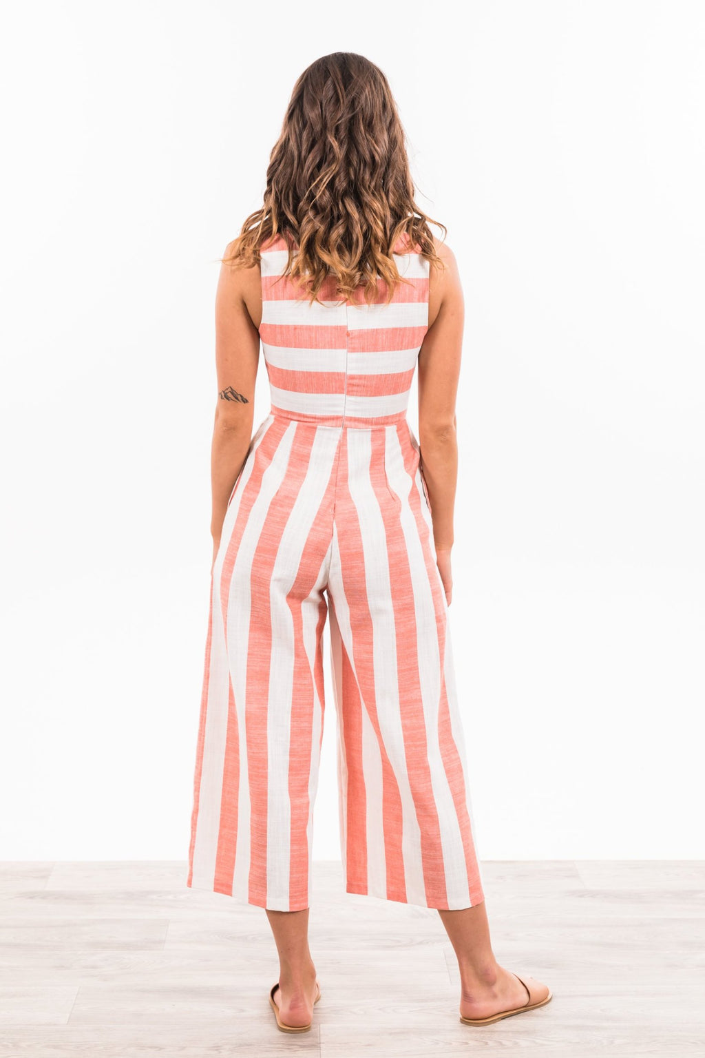 Jasper Jumpsuit - Blush / White