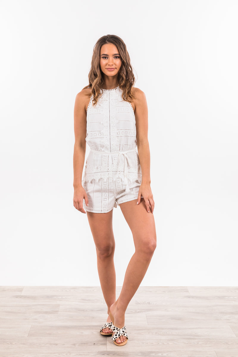 Elsa Playsuit - White