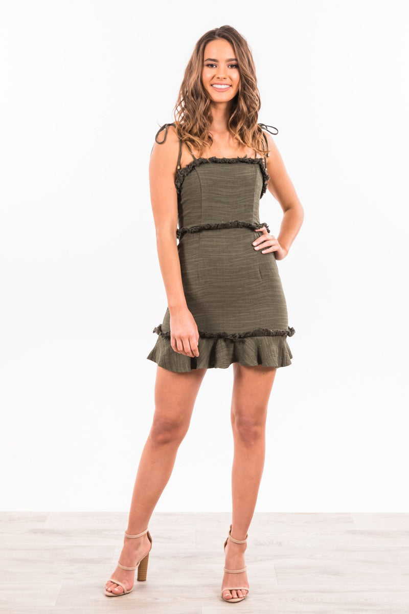 Lindsey Dress - Khaki