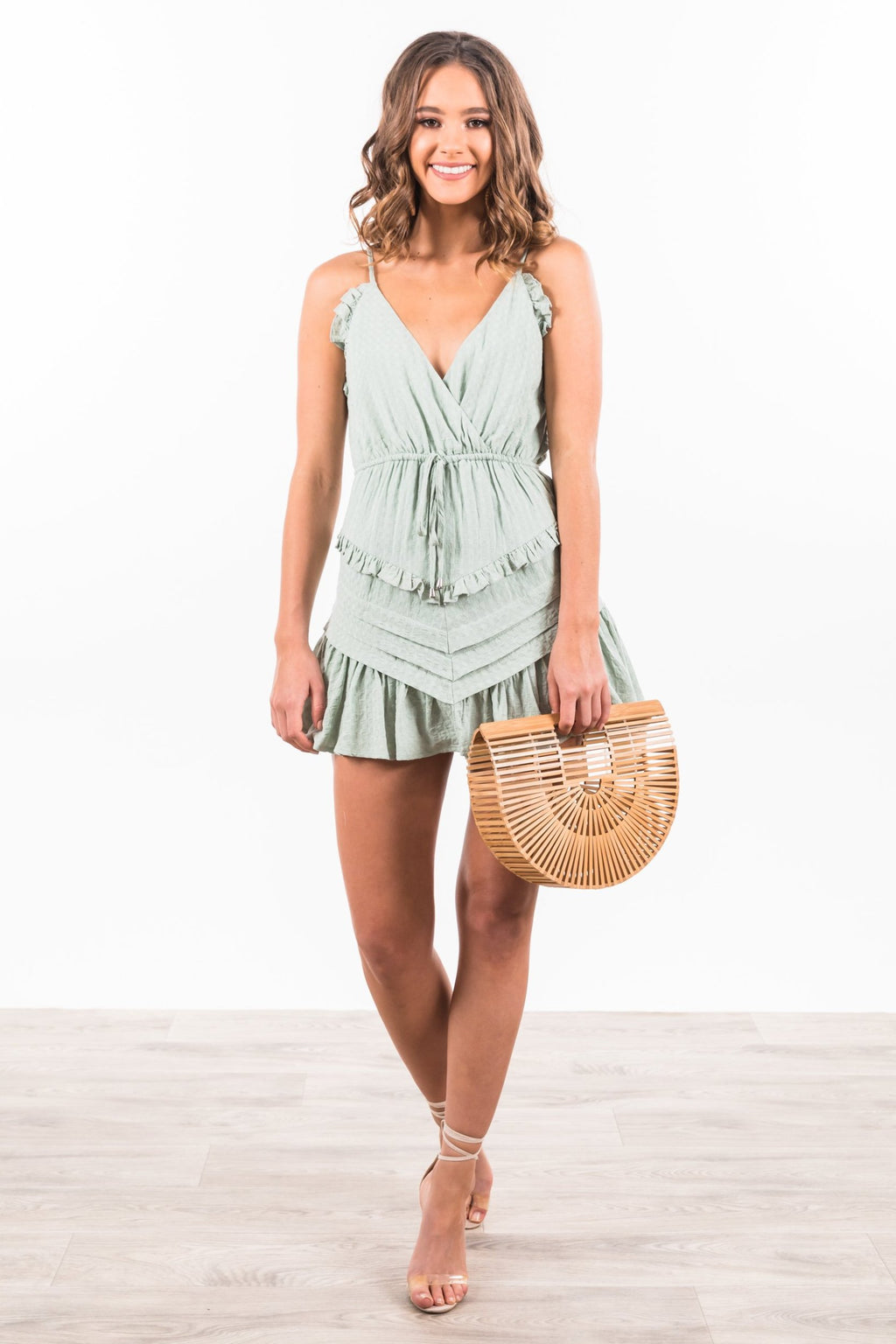 Taliyah Playsuit - Pistachio