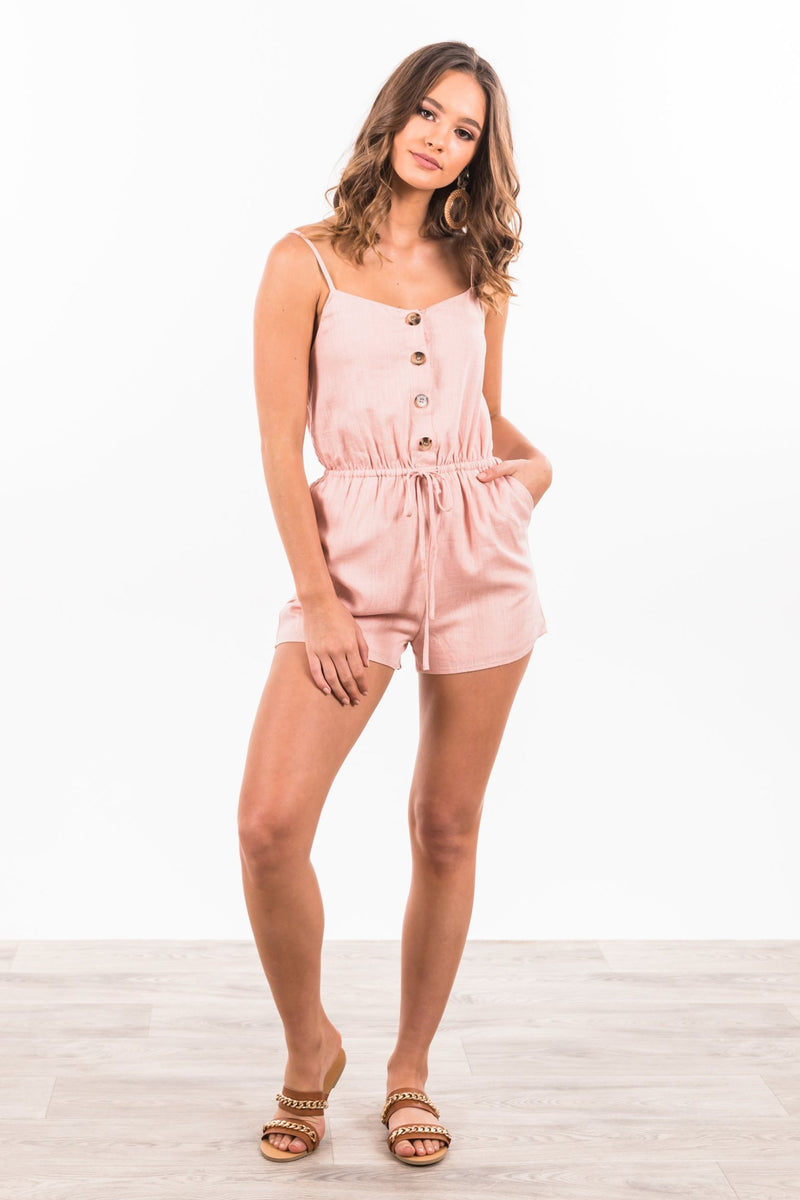 Ashlyn Playsuit - Blush