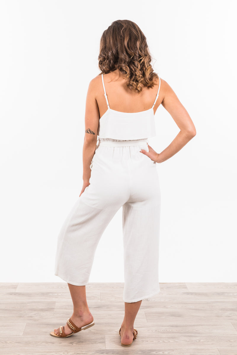 Alexa Jumpsuit - White