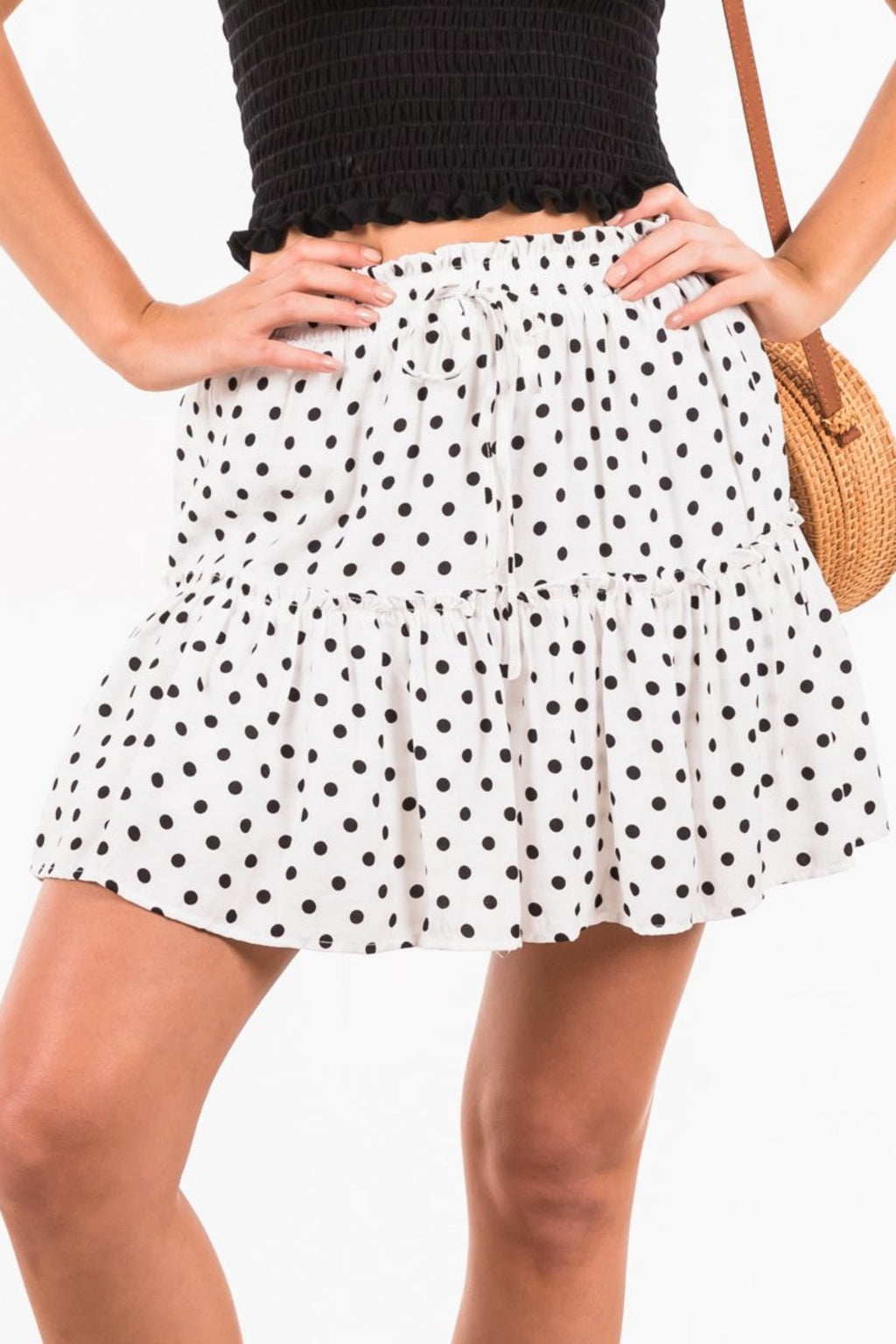 Erica Skirt - White / Black