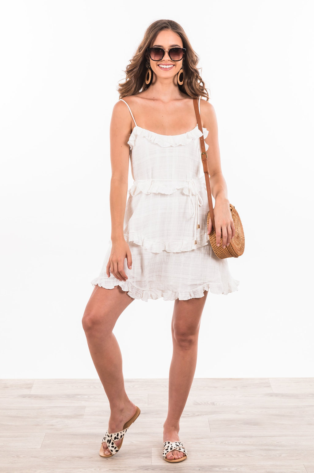Daria Dress - White