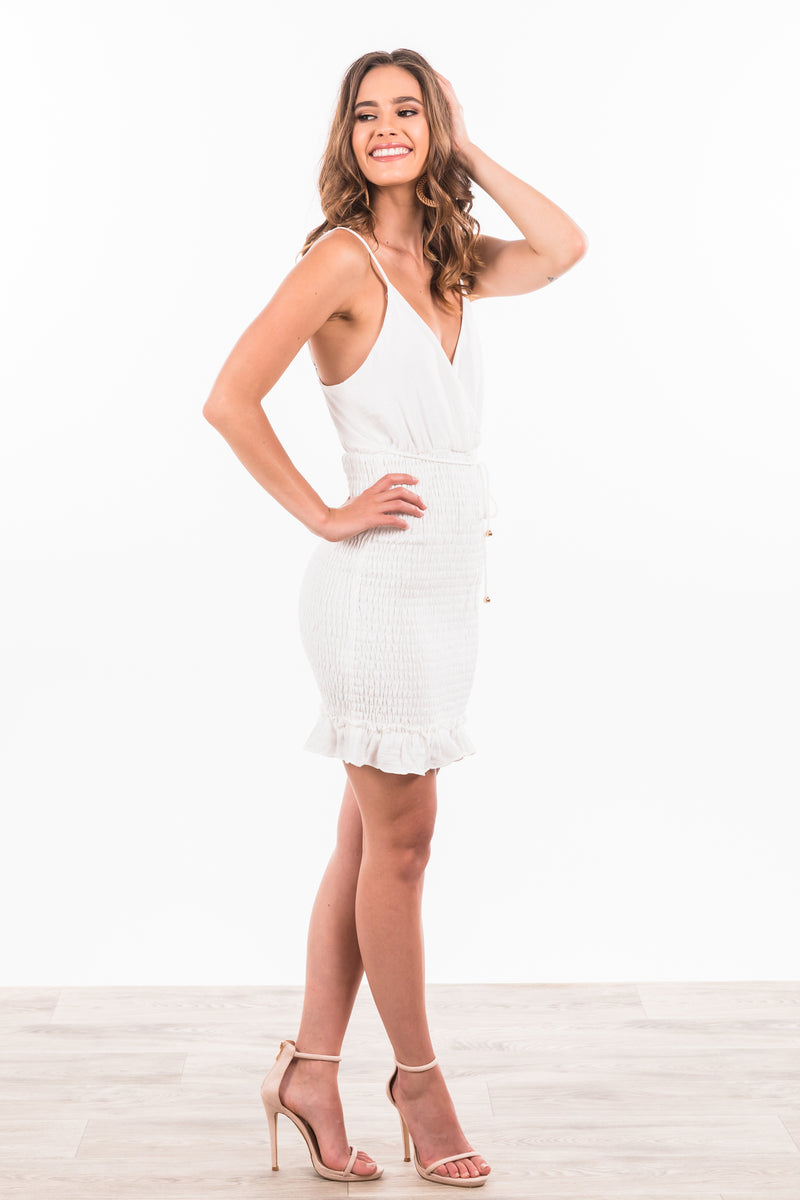 Averie Dress - White