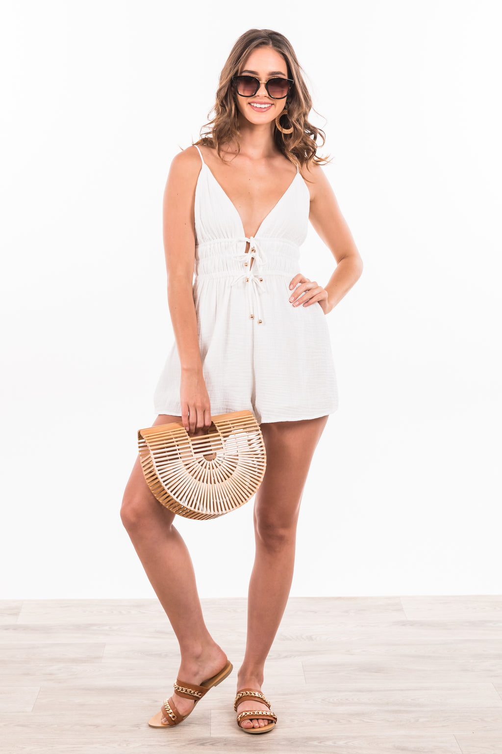 Santina Playsuit - White