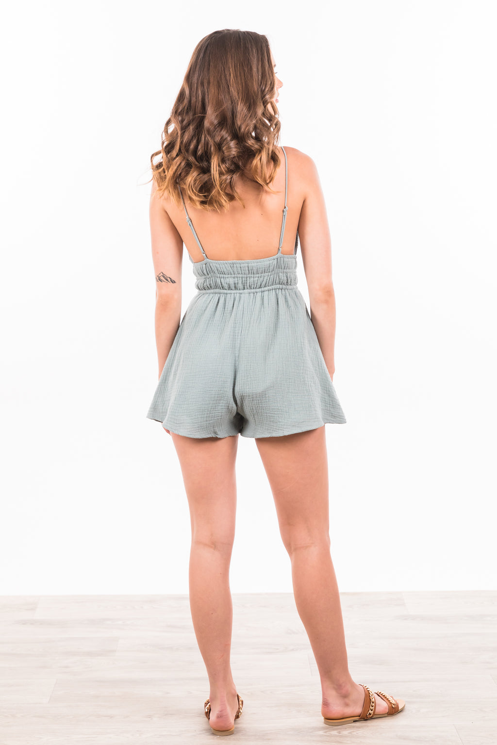 Santina Playsuit - Sage