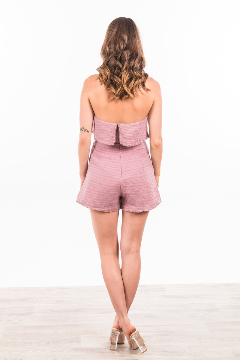 Aviana Playsuit - Mauve