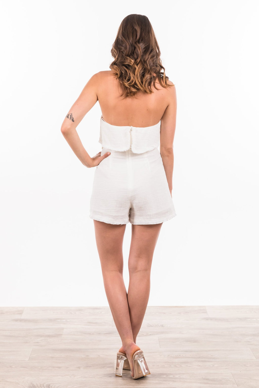 Aviana Playsuit - White