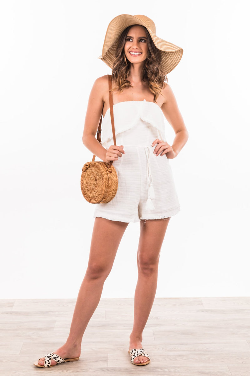 Annika Playsuit - Beige