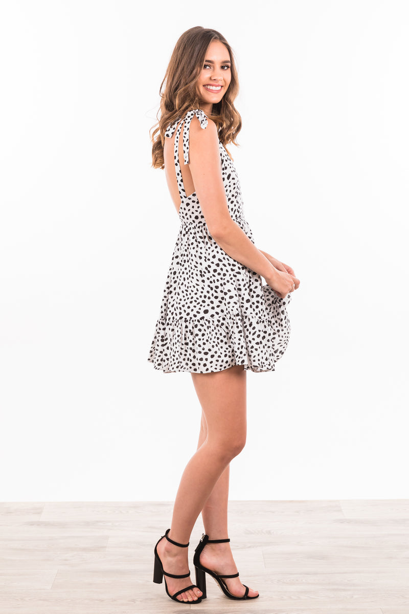 Kaitlin Dress - Black / White