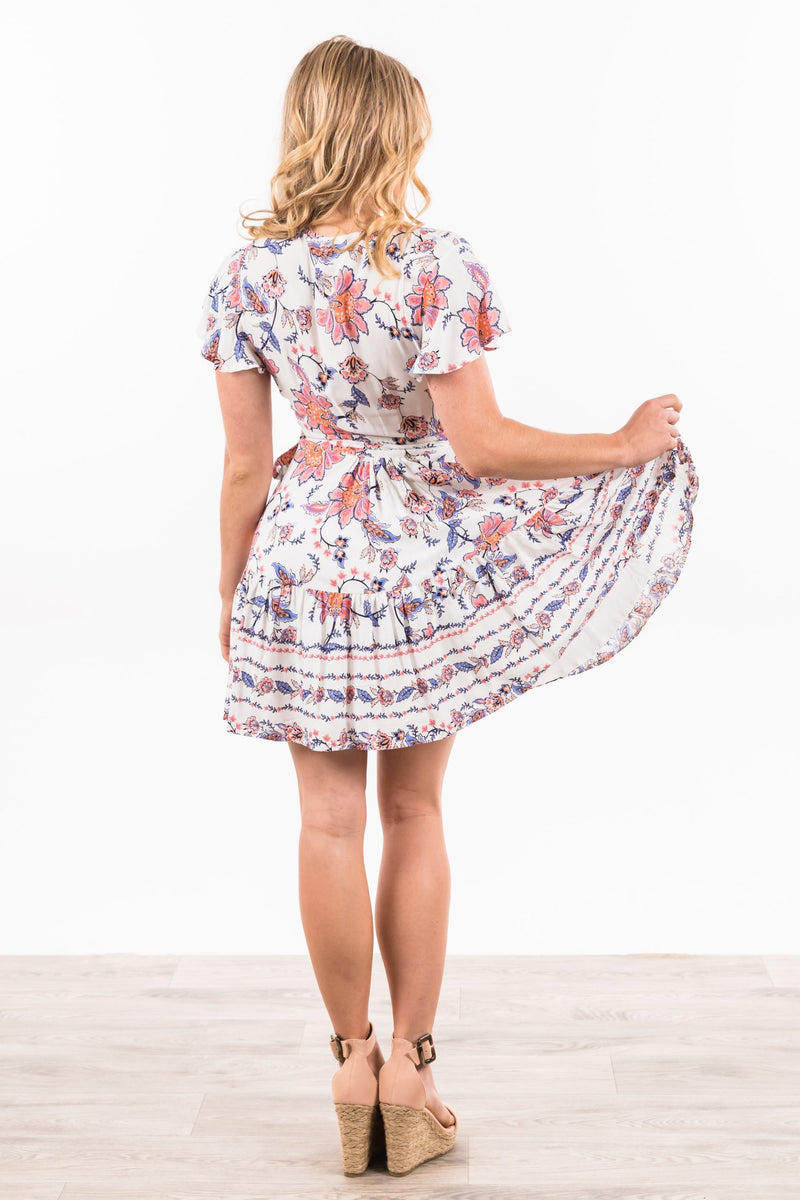 Labelle Dress - White Floral