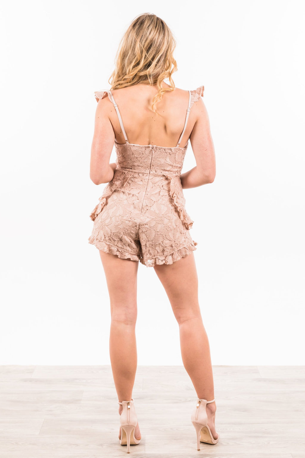 Laycie Playsuit - Blush