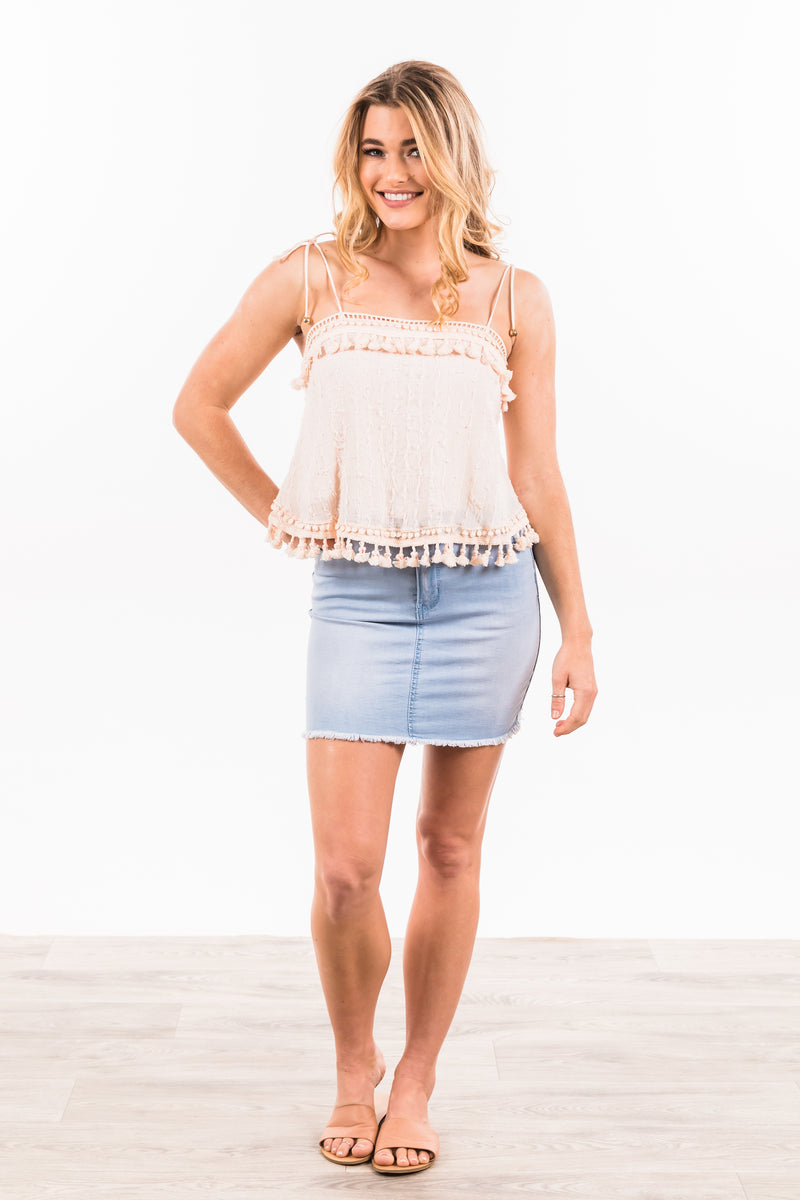 Taylor Skirt - Light Blue