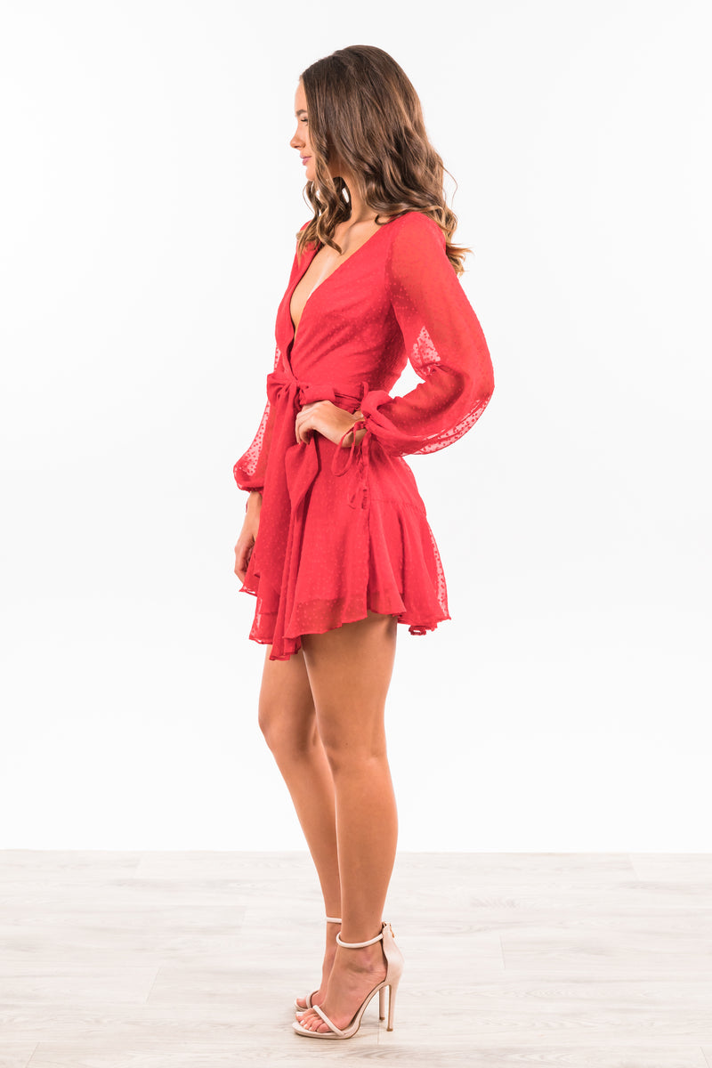 Meagan Dress - Red