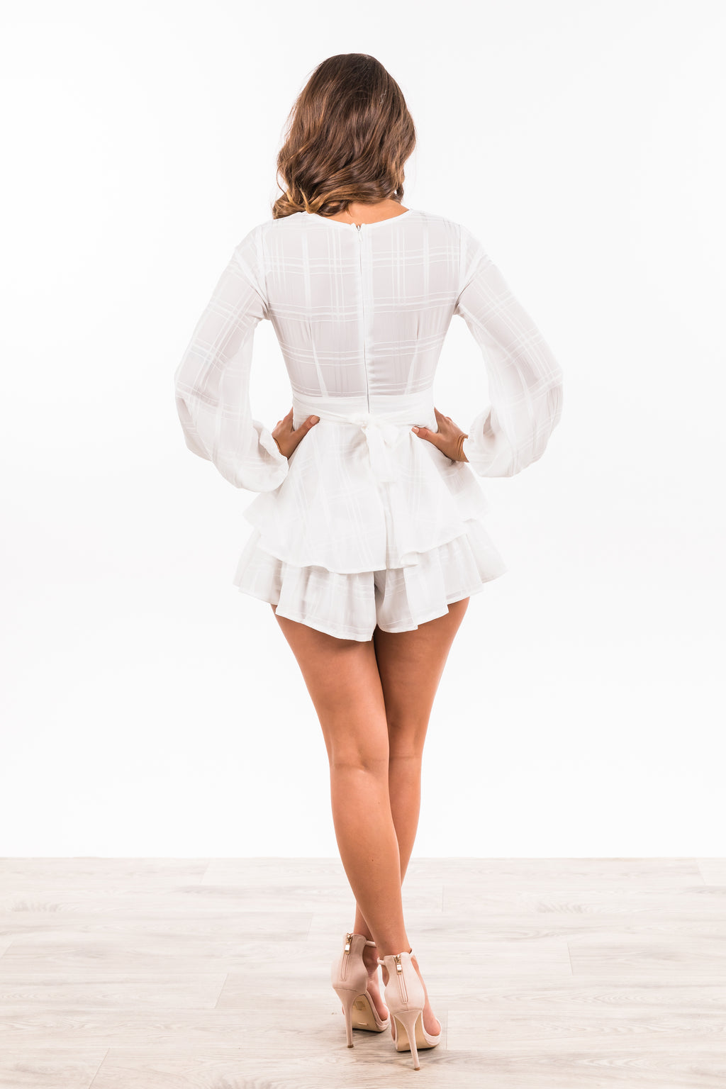 Tamala Playsuit - White