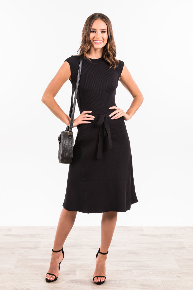 Alyssia Knit Dress - Black