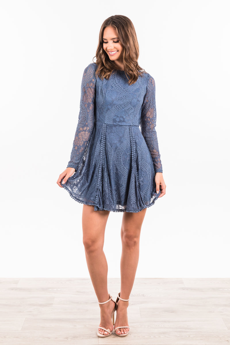 St Germain Dress - Midnight Blue
