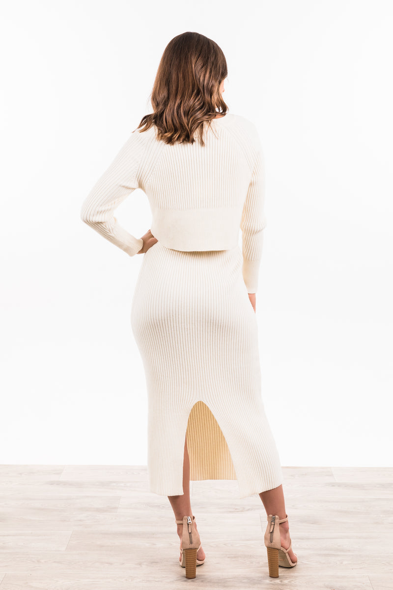Harlem Knitted Skirt - White