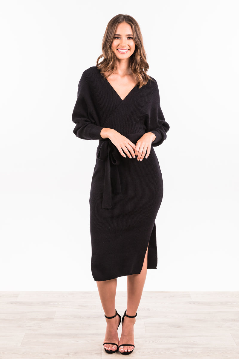 Juliette Maxi Knit Dress - Black