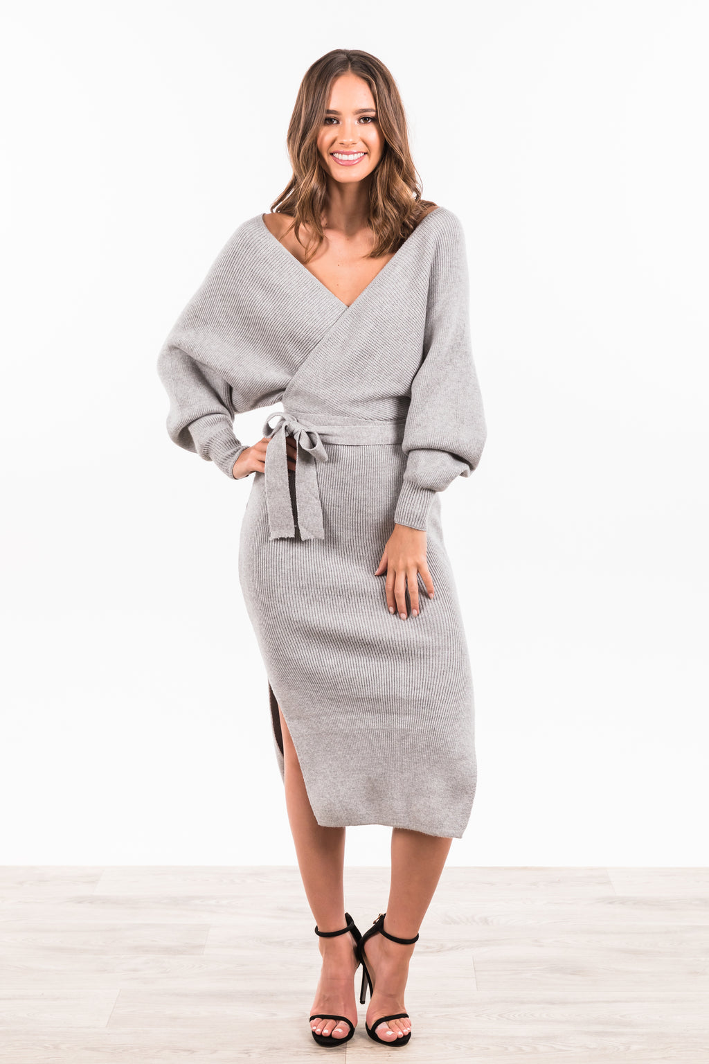 Juliette Maxi Knit Dress - Grey